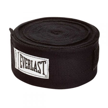 Бинты бокс Everlast Hand Wraps 4.55м черные